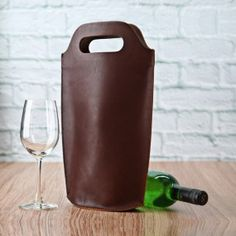 Nappa Leather Wine Carry Tote
