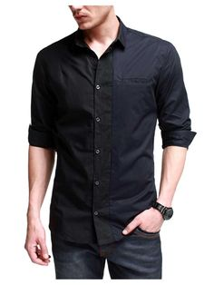 Grey & Black Casual Shirt | Buy Casual Men Shirts in Pakistan ...