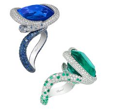 Sapphire and emerald ring from Chopard Red Carpet 2016 collection