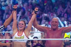 Ronda Rousey wins first WWE match, submitting Stephanie McMahon: It took a few years, but WWE finally managed to sign Ronda Rousey to a…