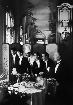 Elliott Erwitt - Waiters and Chef, Hotel Ritz, Paris,   1969