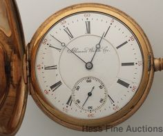 Awesome 16s Running Getty 3 Finger Bridge Illinois Hunter Pocket Watch #Illinois