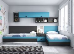 Dormitorio juvenil / Youth bedroom http://www.decorhaus.es/es/ #muebles #Málaga #furniture