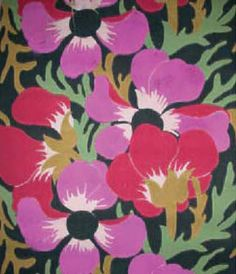 Atelier Martine Wallpapers (Paris, 1911-1929) Paul Poiret launched a  design studio for young working girls,  using their art in his fashion collection