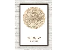 WARSAW - city poster - city map poster print - VINTAGE MAPS AND PRINTS
