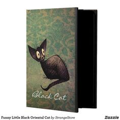 Funny Little Black Oriental Cat iPad Air Cases https://www.zazzle.com/z/39kzi