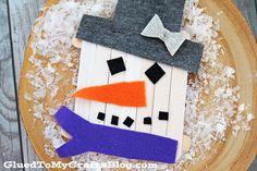 Popsicle del palillo del muñeco de nieve - Kid Craft