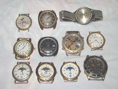 11 Mixed Men's Watch Lot Parts Repair Hamilton Elgin Chronograph Bulova, etc. #dressandcasual