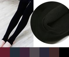 FLEECE lined STIRRUP LEGGINGS tights opaque warm thermal thick womens winter NEW