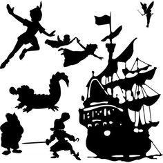 Peter Pan Wall Scene Vinyl Decal by ItsOnTheWallsDecals on Etsy, $20.00