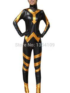 gemengde kleuren halloween cospaly marvel comics de avengers wesp superheld kostuum lijm panty zentai kostuums activiteiten(China (Mainland))