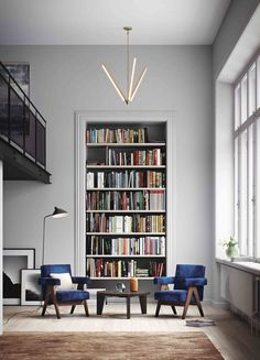 Frame built-in shelf in this bright and airy space - home library design