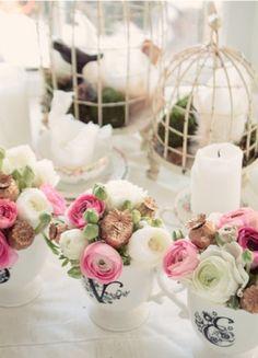 addobbi floreali e centrotavola per il ricevimento del matrimonio