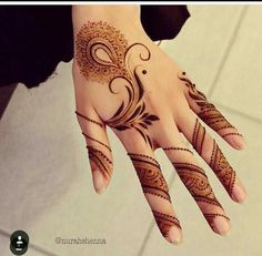 Explore latest Mehndi Designs images in 2019 on Happy Shappy. Mehendi design is also known as the heena design or henna patterns worldwide. We are here with the best mehndi designs images from worldwide. Floral Henna Designs, Finger Henna Designs, Arabic Henna Designs, Mehndi Designs 2018, Modern Mehndi Designs, Mehndi Design Pictures, Beautiful Mehndi Design, Mehndi Designs For Hands, Henna Tattoo Designs