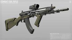 ArtStation - Combat Coil Rifle, Patrick Sutton