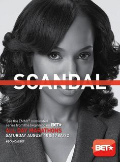 I will be watching BET's marathon of the first two seasons of #Scandal. The first marathon block kicks off tomorrow (Saturday, August 10) from 8 am to 10 pm EST. They'll be showing all of season one and some of season two. And the second marathon with most of season 2 happens next Saturday (August 17) from 8am to 10 pm also. Finally, on Wednesday, August 21, BET will finish airing the complete second season with a two-hour, back-to-back block, which starts at 9pm EST.