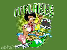 IT Flakes T-Shirt - http://teecraze.com/it-flakes-t-shirt/ -  Designed by SergioDoe    #tshirt #tee #art #fashion #clothing #apparel #ITcrowd