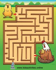 Education maze game for kids | free printable ⋆ Kids Activities Maze Games For Kids, Puzzles For Kids, Preschool Education, Preschool Worksheets, Alphabet Worksheets, Mazes For Kids Printable, Free Printable, Educational Games For Preschoolers, Fun Activities
