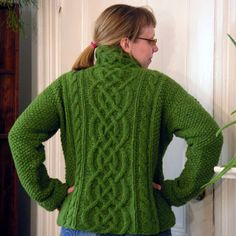 Celtic cable knit sweater.