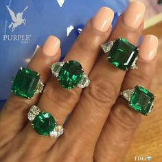 Feel the beauty with this Emerald and diamond rings by @baycojewels
