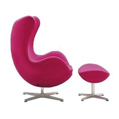 Egg Chair in hot pink. Love!