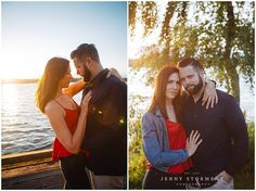 Seattle Engagement photos at Greenlake by Jenny Storment Photography