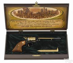 Colt Golden Spike Commemorative Frontier Scout single-action Army revolver, .22 long rifle caliber - Price Estimate: $300 - $500