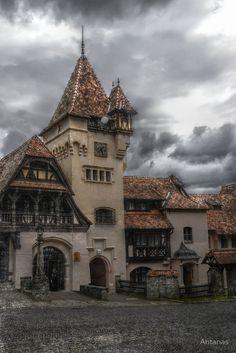'Peles Castle Sinaia, Romania' by Antanas Beautiful Castles, Beautiful Buildings, Beautiful Places, Medieval Village, Medieval Castle, Peles Castle, Castle Ruins, Abandoned Buildings, Abandoned Places