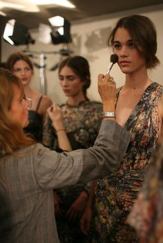 Backstage at Bottega Veneta RTW Spring 2013