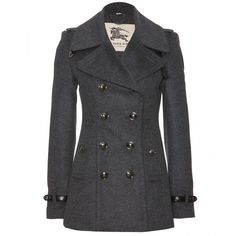 Why does everything I INSTANTLY love have to be SO expensive!  - Burberry London Wool And Cashmere Pea Coat