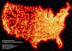 Map of McDonalds restaurants in the United States?... That makes me sick.