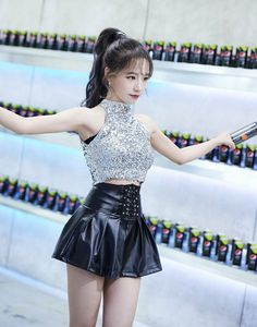 Kpop Fashion Outfits, Stage Outfits, Girl Fashion, Yuri, Skater Skirt, Dress Skirt, Yoon Sun Young, Japanese Girl Group, Sexy Asian Girls