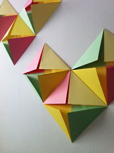Design and Paper | DIY Folded Heart Wall Decal | http://www.designandpaper.com