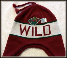 MINNESOTA WILD KNIT BRAIDED STOCKING CAP HAT BY OLD TIME HOCKEY FREE SHIPPING #OLDTIMEHOCKEY…
