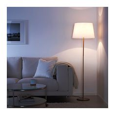RODD Floor lamp base with LED bulb  - IKEA