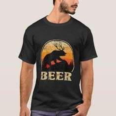 Bear Deer Funny Beer Retro Vintage T-Shirt  #fathersdaypresent #fathersdaybbq #fathersday15 happy fathers day quotes from daughter, happy fathers day quotes, funny fathers day quotes, 4th of july party