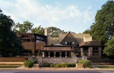 Frank Lloyd Wrights home and studio in Oak Park Illinois.  Oak Park has the largest collection (25) of Wrights designs.