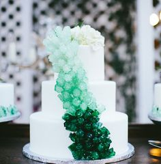 Ombre rock sugar cake