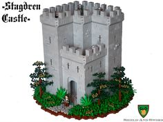 The source for all your LEGO Castle needs! Chateau Lego, Lego Burg, Lego Kingdoms, Castle House Plans, Lego Structures, Wooden Model Kits, Lego Boards, Lego Castle, Cool Lego Creations