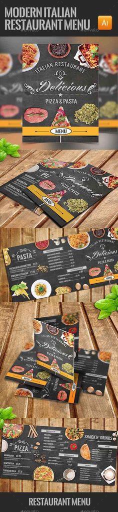 Modern Italian Food Menu - Download…