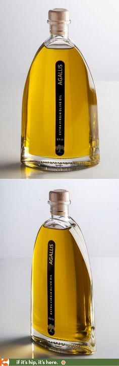 Agallis premium extra virgin olive oil in a slender and elegant bottle.