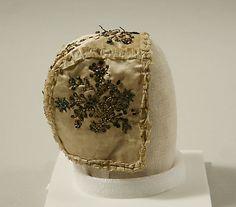 Cap, 18th c., European, silk and metal