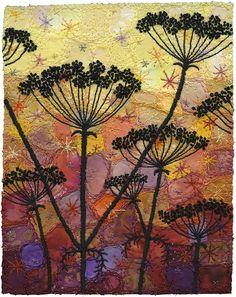 Autumn Umbels 2 by Kirsten's Fabric Art, via Flickr