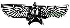 Bastet And Anubis Winged Tattoo