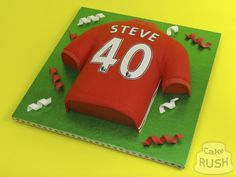 Custom cakes made in Cheshunt Manchester United Cake, Custom Cakes, How To Make Cake, Cake Decorating, The Unit, Personalized Cakes, Personalised Cake Toppers