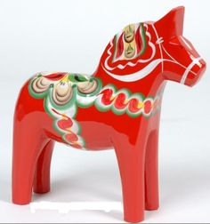 Dalahorse (every Swedish kid has one) - hand painted, hand carved
