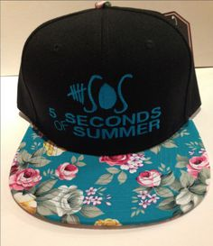 5 Seconds OF summer 5 SOS Flower print brim by winteriscoming2012, $29.00