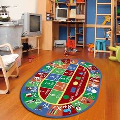 Educational Rug For Kids & Alphabet, Letter And Numbers Non Skid Area Rug Oval #worldwidemark3tKidsRug