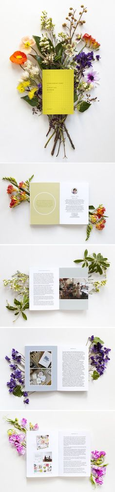 Publication Design | Photo shoot idea - flowers & books