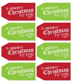 Free Printable Christmas Gift Tags & Labels | Christmas tag, Gift ...